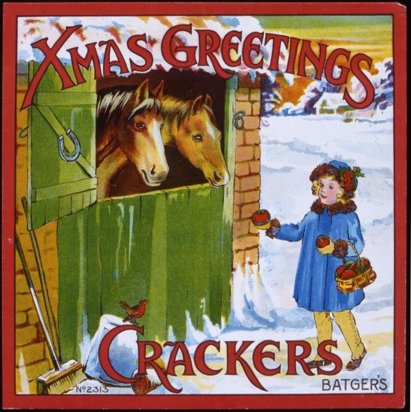 A colour illustration from a Christmas cracker box
