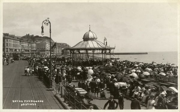 The Baths Promenade, Hastings, East Sussex Date: 1910