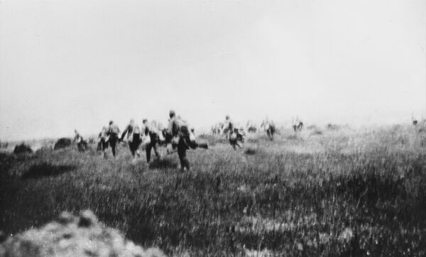 Advance of the 6th Manchester Regiment during the Third Battle of Krithia on Gallipoli during World War I