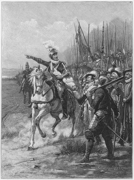 BATAILLE D'IVRY Henri IV defeats the must larger Catholic army under the duc de Mayenne