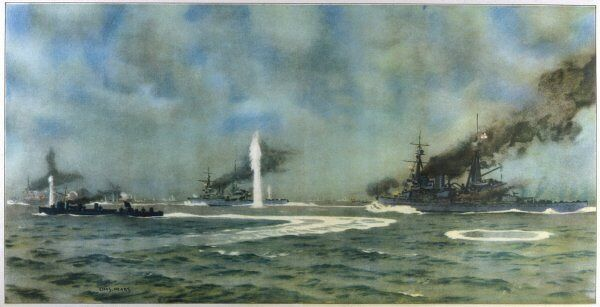 In the midst of the action at the Battle of Jutland