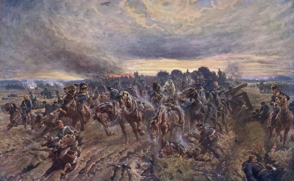 The German retreat from the Marne. Date: August 1914
