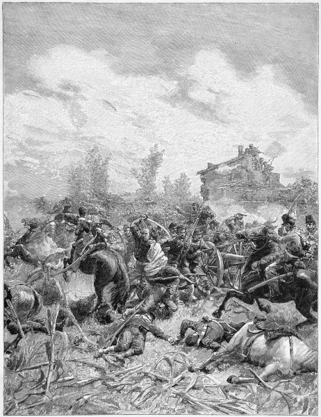 Garibaldi's men engage the Neapolitan forces at Milazzo (or Melazzo) and overcome them