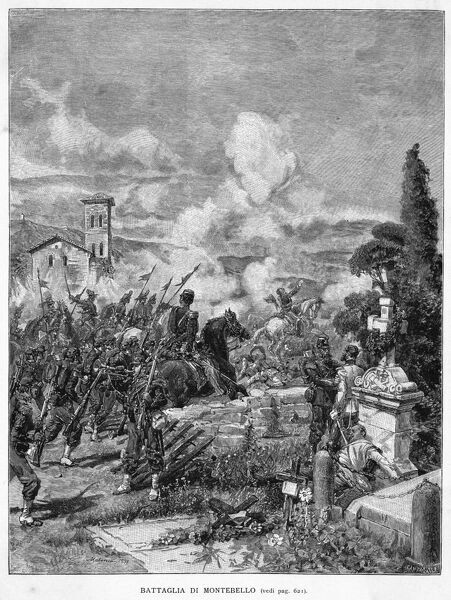 A combined Piedmontese and French army defeats the Austrians at Montebello
