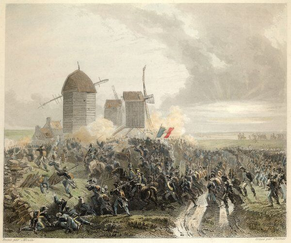 BATTLE OF MOUCRON The combat among the windmills