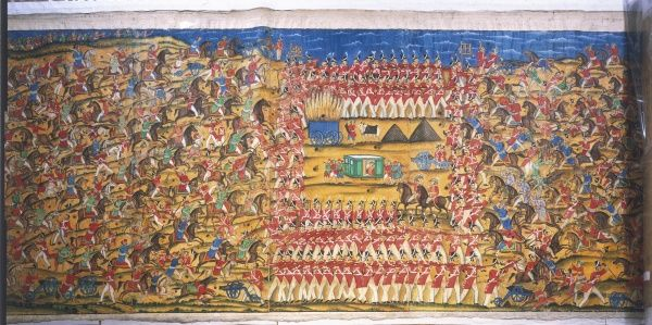 The Battle of Pollilur waged between Tipu Sultan, the Tiger of Mysore and Col. William Baille of the East India Company. Baille's force was defeated and he was captured