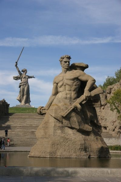 Russia, Volgograd (Zaryzin, Stalingrad) - The Battle of Stalingrad Memorial (fought during World War Two between August - January 1942/43)