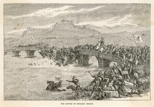 BATTLE OF STIRLING BRIDGE English defeated by Scots, led by William Wallace