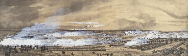 Battle of Waterloo (18th June 1815). Battle situation at 2.30 p.m. Gouache. FRANCE. Paris. Army Museum. Date