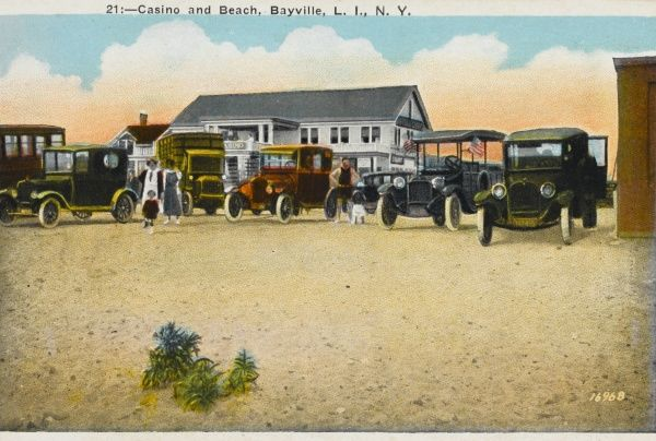 Casino and beach at Bayville, Long Island, New York