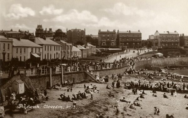 The Beach - Clevedon, North Somerset Date: circa 1916