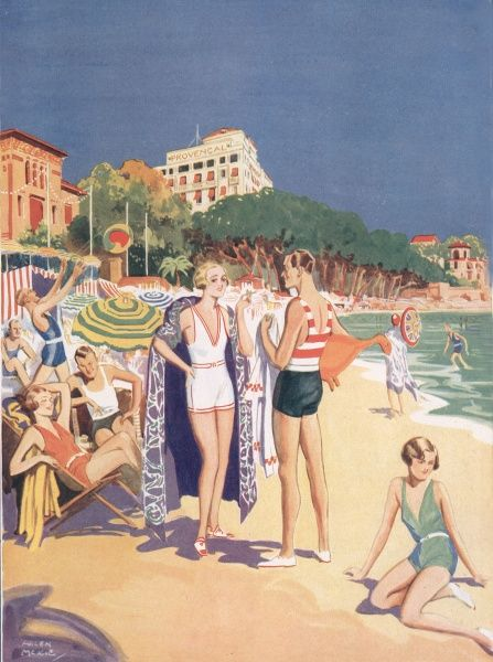 The beach at Juan-Les-Pins by Helen McKie
