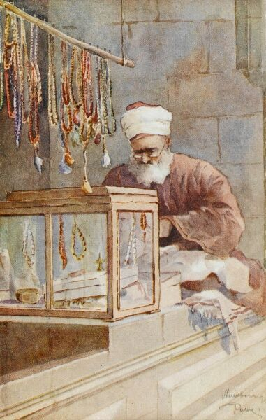 A seller of strings of beads, Constantinople