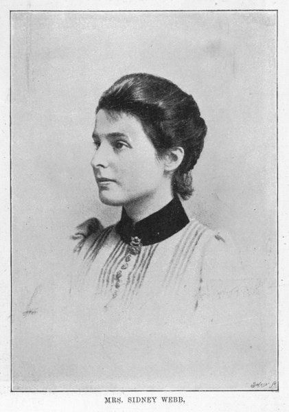 BEATRICE WEBB economist and social theorist