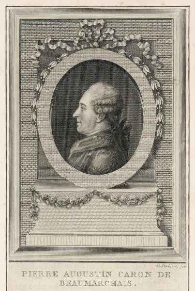 PIERRE-AUGUSTIN CARON de BEAUMARCHAIS French clockmaker, writer and financier for the American colonies