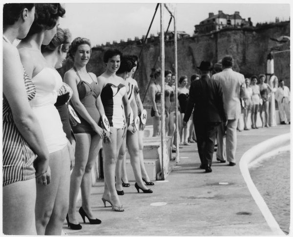 A beauty contest in Cliftonville, near Margate, Kent
