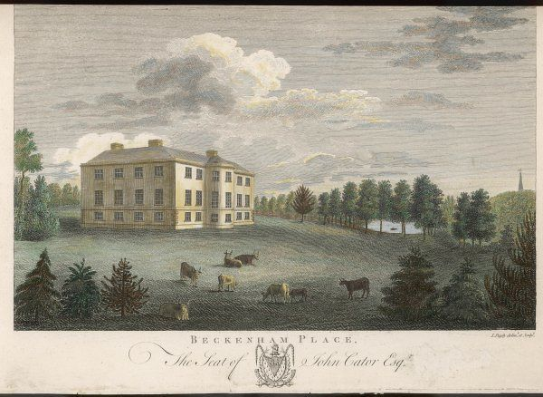Beckenham Place, Blackheath, London, the seat of John Cator Esq. This mansion dates from the mid 1770s