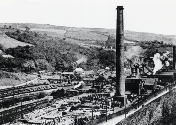 View of Lewis Merthyr Pit, Bedwas Navigation Colliery, Monmouthshire, South Wales. The colliery opened in 1913 and closed in the mid-1980s, after the Miners' Strike
