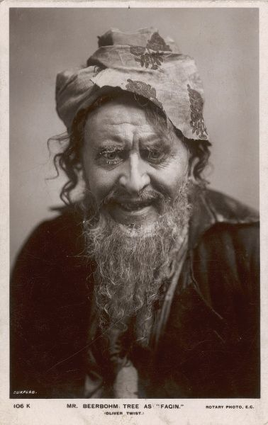 Sir HERBERT DRAPER BEERBOHM TREE English actor-manager in the role of Fagin in 'Oliver Twist&#39