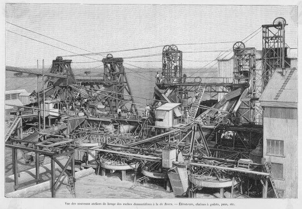 Washing equipment for the diamonds of De Beer's mines in South Africa