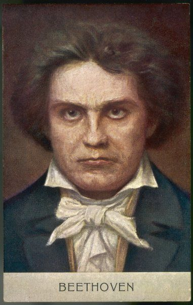 LUDWIG VAN BEETHOVEN German composer Portrait