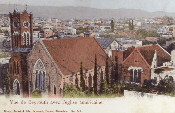 Beirut, Lebanon - The American Church Date: 1905