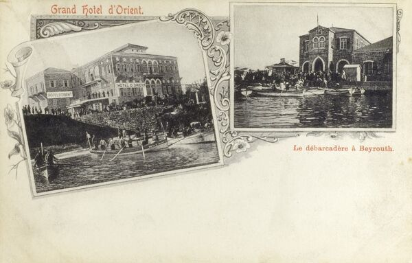 Beirut, Lebanon - Grand Oriental Hotel and Landing Stage Date: circa 1902