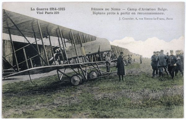 Farman biplanes of a Belgian squadron, used for reconnaisance