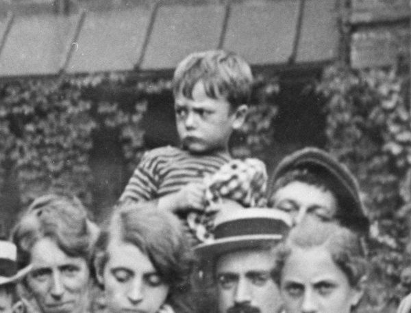 Belgian civilians, including a child, during the First World War. Date: 1914-1918