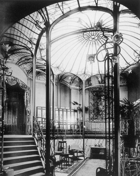 Entrance hall to Viktor Horta's art nouveau building at Avenue Palmerston 4, in Brussels