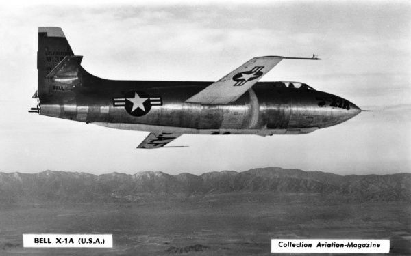 American jet fighter which will break speed records Date: circa 1950