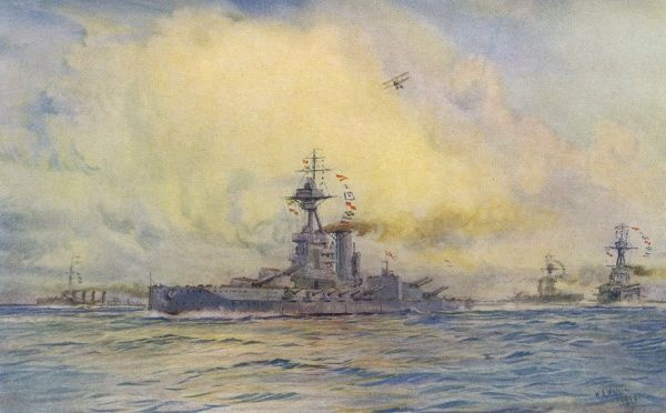 British warship which takes part in the battle of Jutland, 1915 (Do not confuse with earlier ships of the same name)