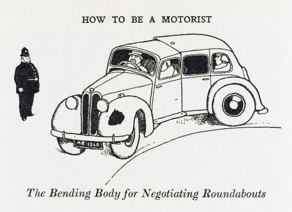 Larger, longer cars may find negotiating a small roundabout quite difficult