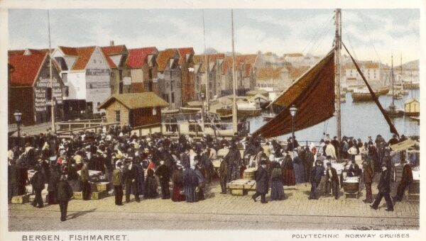 Bergen, Norway - The Fishmarket Date: 1904