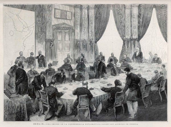 BERLIN CONFERENCE Bismarck presides over a diplomatic conference to discuss events in Africa
