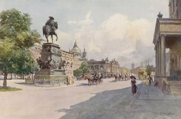 Unter den Linden, with monument to Frederick the Great looking towards the Imperial Palace