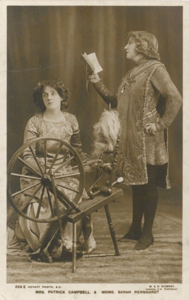 SARAH BERNHARDT French actress (right) with Mrs Patrick Campbell, who doesn't seem very excited