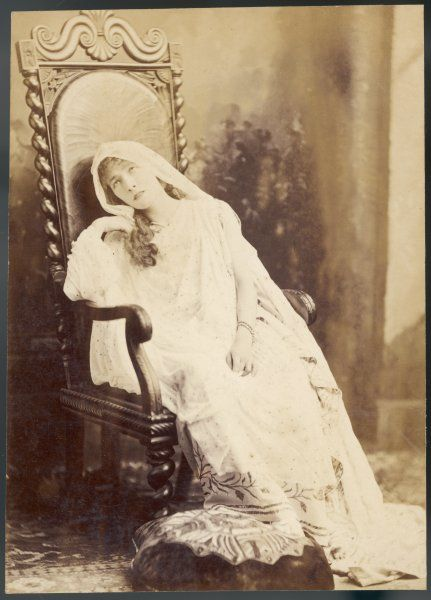 SARAH BERNHARDT French actress drooping in a chair