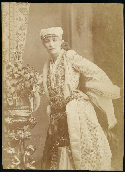 SARAH BERNHARDT French actress in an ornate gown