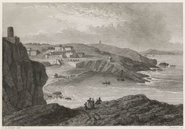 At this time, the most they can find to say about Biarritz is that it is situated near Bayonne and offers sea-bathing