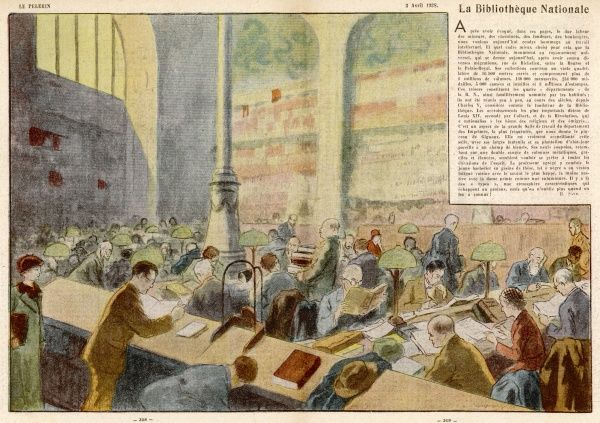 The BIBLIOTHEQUE NATIONALE, Paris : the reading room of France's national library