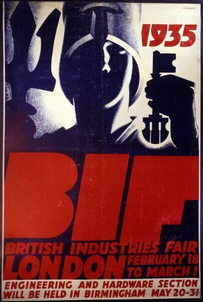 British Industries Fair advert, held in London from February 18th - March 1st, 1935