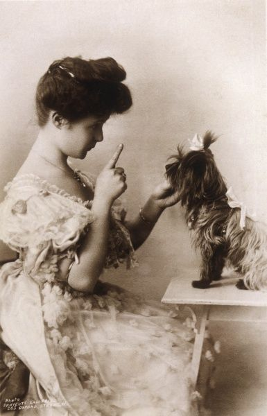 BILLIE BURKE Actress, with her little dog