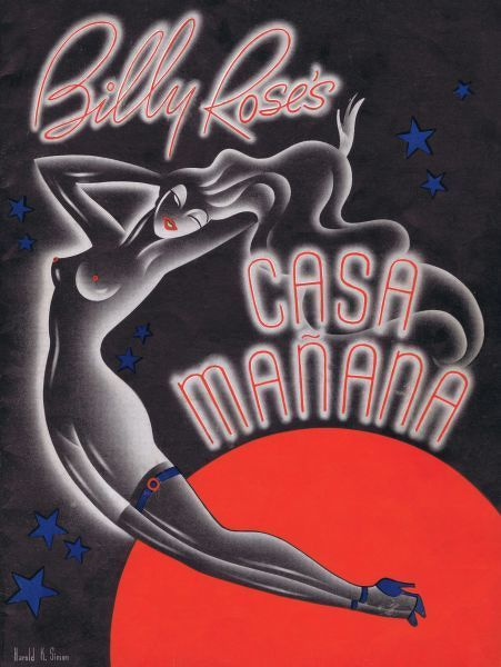 Programme cover for the Billy Rose cabaret show Let's Play Fair at Casa Manana, New York, 1939 (7th Ave at 50th Street) Date: 1939