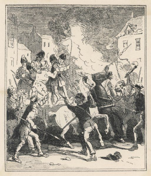 Opposers to the French Revolution, a Birmingham mob run riot in the city