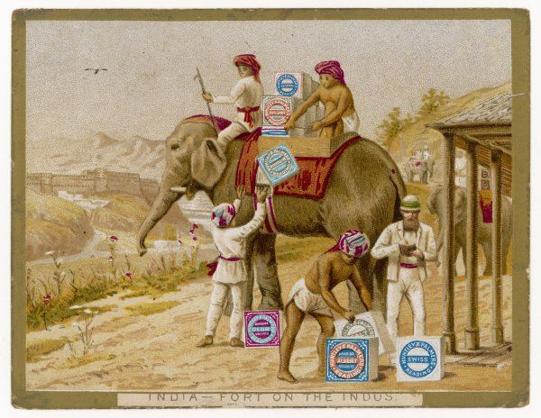 At a Fort on the Indus, the one thing that the Britishers crave is Huntley and Palmer biscuits : they are delivered by elephants who sometimes get one as a reward