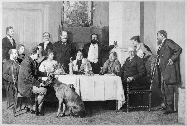 OTTO EDUARD LEOPOLD BISMARCK Photograph of Bismarck with his family
