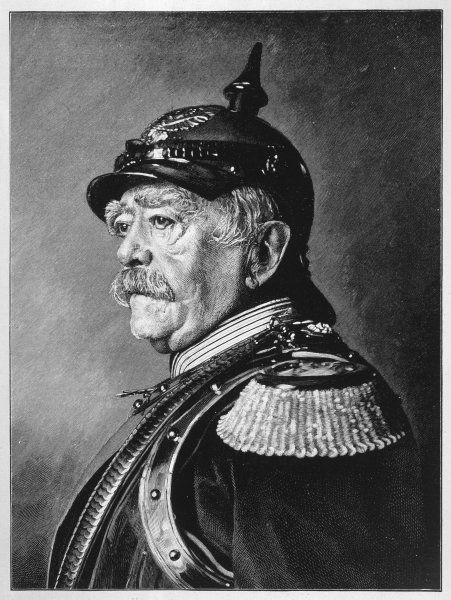 OTTO EDUARD LEOPOLD BISMARCK Prussian statesman and first chancellor of German Empire in his military uniform