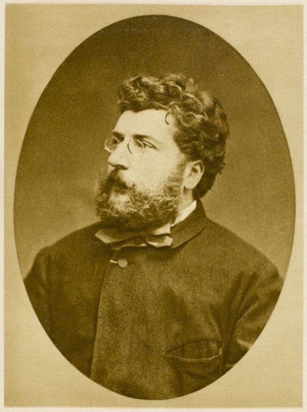 GEORGES BIZET French musician, composer of 'Carmen' and others, in 1874