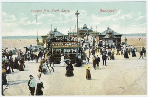 At the end of the Victoria Pier, South Shore, Blackpool, Lancashire